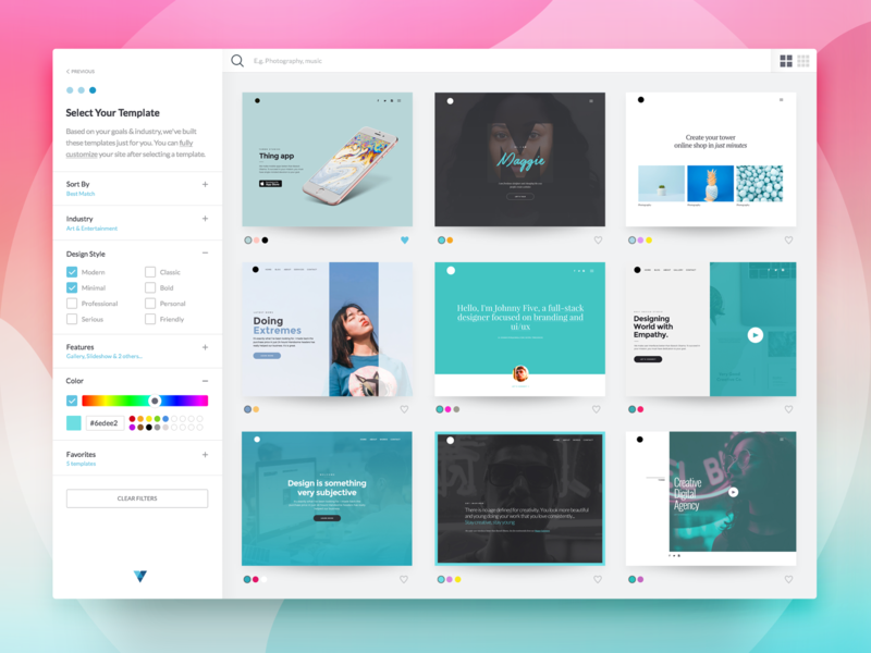 dribbble template select 2x